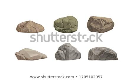 Rock pietra grezzo ciottoli colore vettore Foto d'archivio © pikepicture