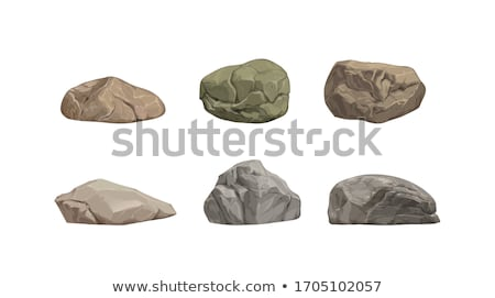 Rock Stone Rough Cobblestone Boulder Color Vector Stock photo © pikepicture