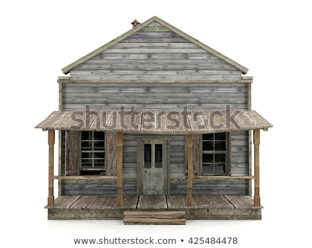 Old wooden terrace in front of abandoned house Stock photo © dariazu