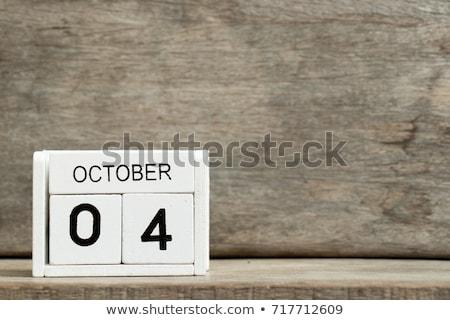 Cubos calendario cuarto rojo blanco icono Foto stock © Oakozhan
