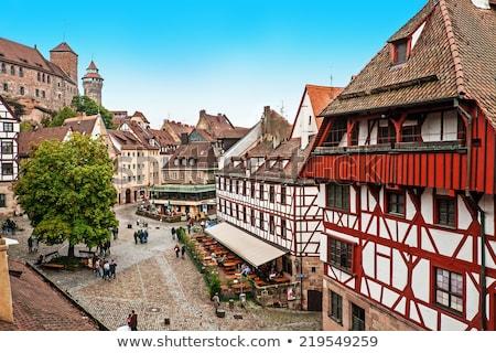 Duitsland historisch centrum kasteel muur Stockfoto © borisb17