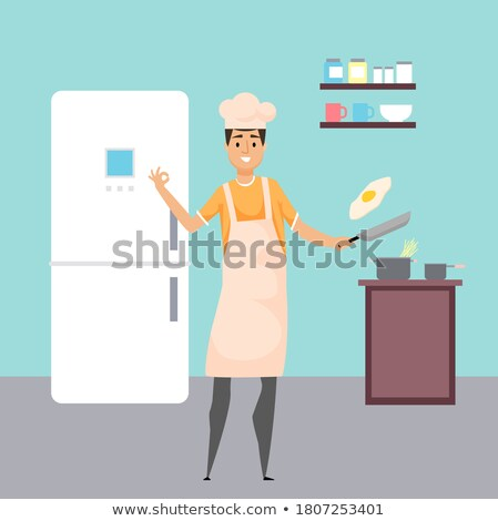 приготовления человека яйца продовольствие Ингредиенты Сток-фото © robuart