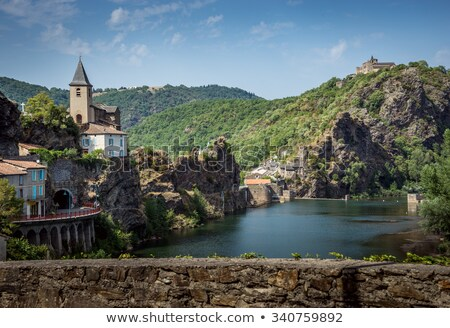 The valley of the Tarn river, french canyon Stock photo © tilo
