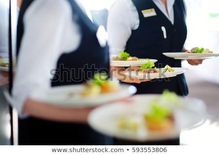 Carne piatto ricevimento di nozze guardare alimentare Foto d'archivio © boggy