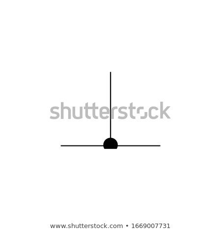 Perpendicular line meet at 90 degree illustration, T-connection. Geometrical concept. Stock Vector i Stock photo © kyryloff
