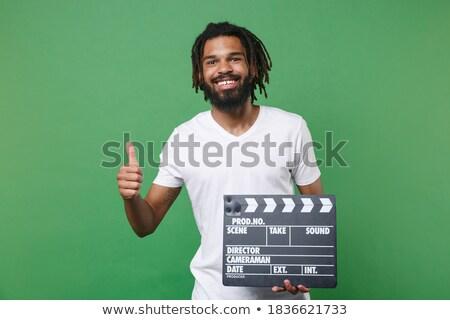 Man film scène stijl ontwerp Stockfoto © jossdiim