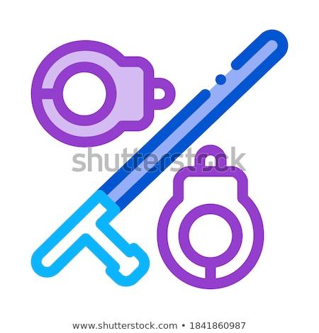 Algemas ícone vetor ilustração assinar Foto stock © pikepicture