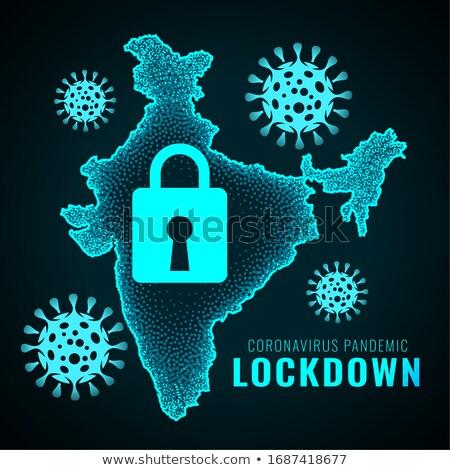 Stock photo: india lockdown due to coronavirus pandemic infection outburst