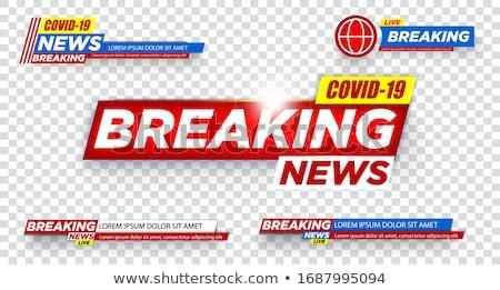 covid-19 novel coronavirus latest news banner template Stock photo © SArts