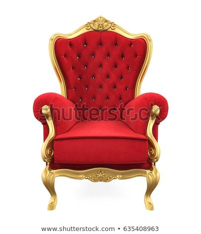 Rey trono ilustración hombre funny corona Foto stock © adrenalina