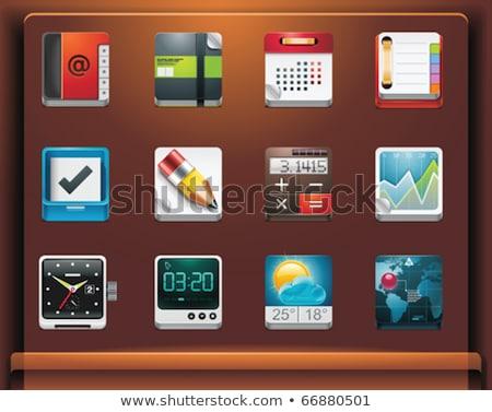 Naptár tervező szervező ikon stock izolált Stock fotó © kyryloff