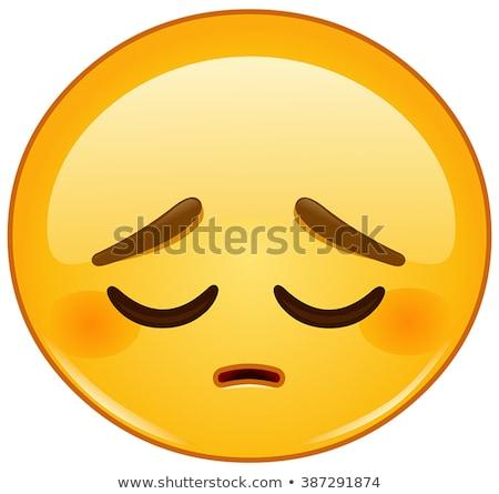 Triest depressief illustratie ontdaan emoticon Stockfoto © barsrsind