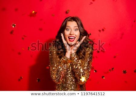 удивительный ярко платье изображение красивой Сток-фото © deandrobot