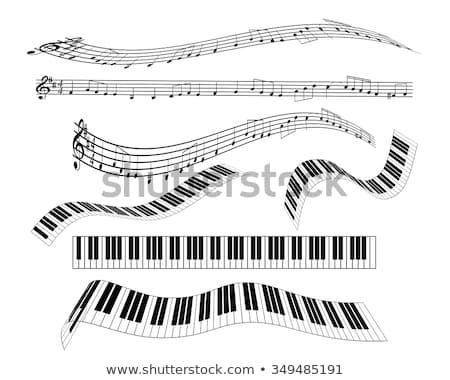 Musicale tastiera strumento isolato immagine piano Foto d'archivio © designer_things