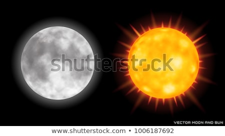 Realistisch eclips satelliet maan star zon Stockfoto © evgeny89