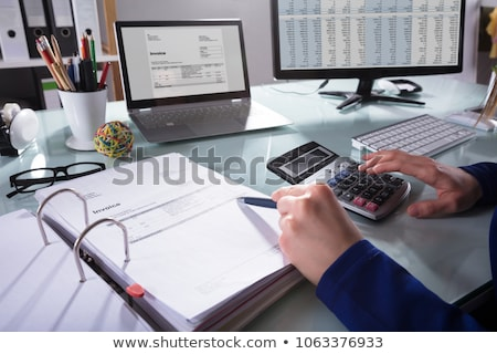 Chartered Accountant Hand Calculating Tax Stock photo © AndreyPopov