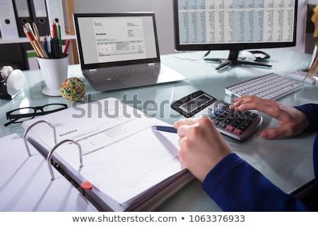 Księgowy strony podatku wynagrodzenie działalności dziewczyna Zdjęcia stock © AndreyPopov