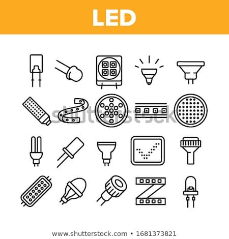 Diode teken display witte licht technologie Stockfoto © Darkves