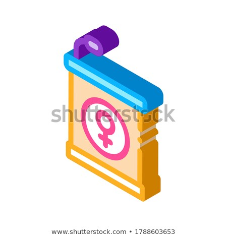 Pedestal Mike isometric icon vector illustration Stock photo © pikepicture