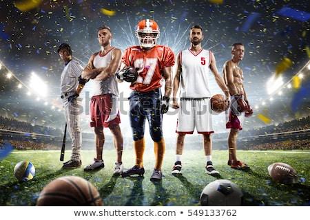 Csapatsportok mezők golyók futball tenisz kosárlabda Stock fotó © sahua