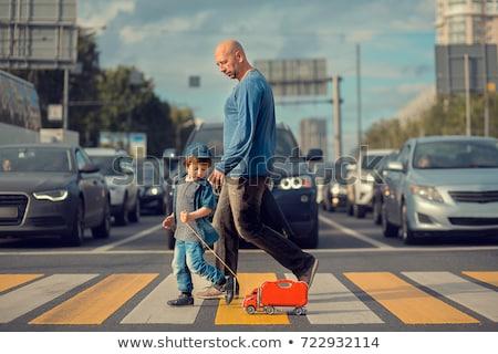 おもちゃ 歩行者 通り 車 旅行 徒歩 ストックフォト © mybaitshop