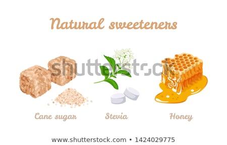Azúcar moreno cubos alimentos luz torta beber Foto stock © nenovbrothers