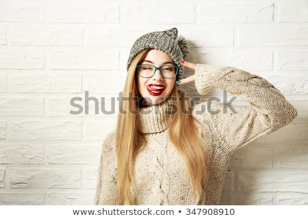 fashion photo of girl on the street stock photo © artjazz