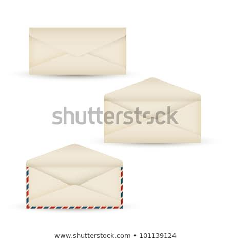 vector open vintage long envelope stock photo © orson