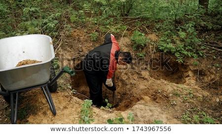 スペード 女性 建設 青 ストックフォト © photography33