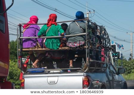 Bauarbeiter zurück Lastwagen Mann Arbeit Technologie Stock foto © photography33