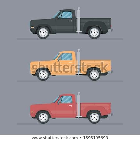 Camión amarillo tres vista coche resumen Foto stock © lkeskinen