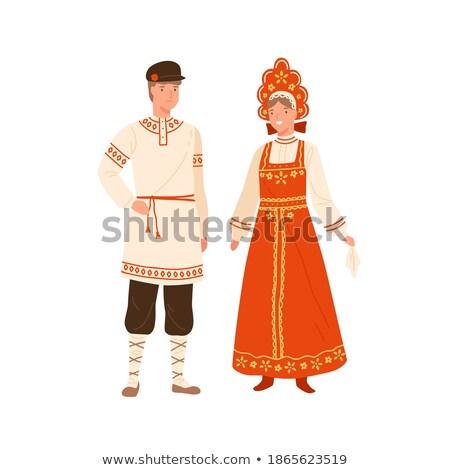 Couple holding a white handkerchief Stock photo © Kotenko