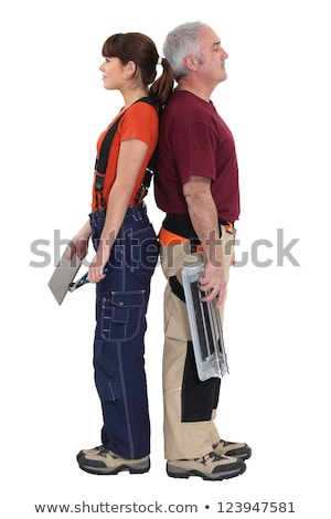 A team of tile cutters Stock photo © photography33