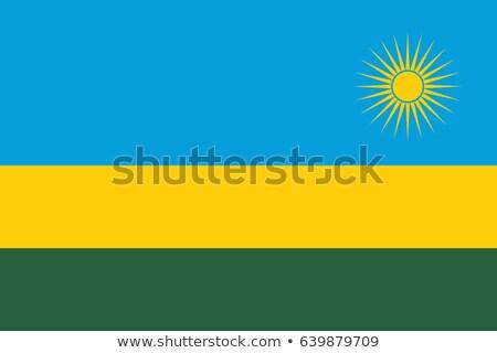 Kolory Rwanda płaszcz broni Pokaż banderą Zdjęcia stock © perysty