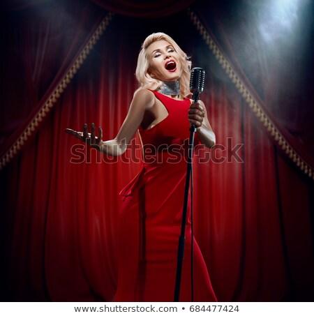 cantante · etapa · masculina · atención · hombre · teatro - foto stock © urchenkojulia