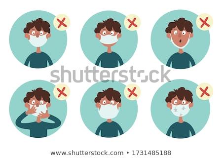 Chłopca funny nosa dziecko włosy Zdjęcia stock © photography33