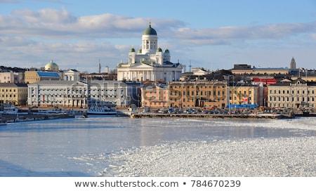 Хельсинки зима Финляндия Солнечный город пейзаж Сток-фото © Estea