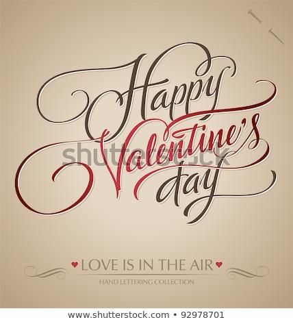 Feliz dia dos namorados cartão tipo texto Foto stock © thecorner