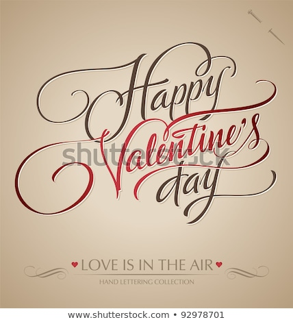 happy valentines day card type text editable vector stock photo © thecorner