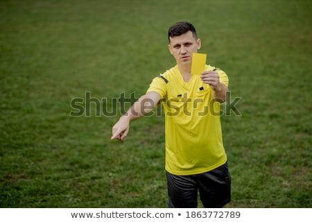 Citromsárga felszerlés tárgy futball sport futball Stock fotó © pcanzo