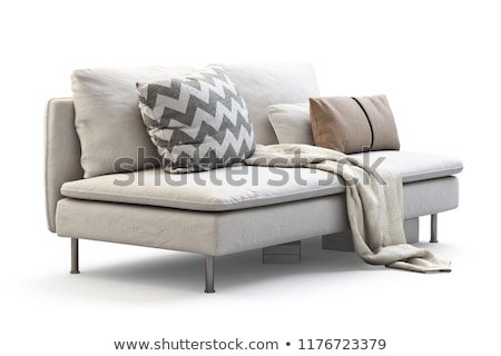 3d render of sofa and tv stock photo © kjpargeter