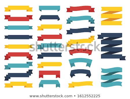 Four color abstract scroll icon set Stock photo © WaD
