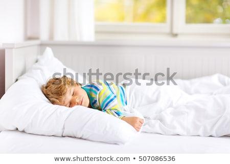Stock fotó: Gyönyörű · alszik · fiú · kisgyerek · gyermek · fehér