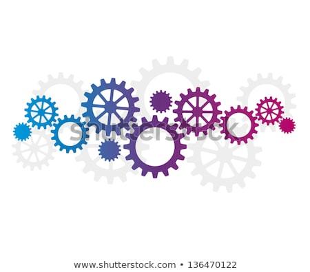 purple cogwheel stock photo © vlastas