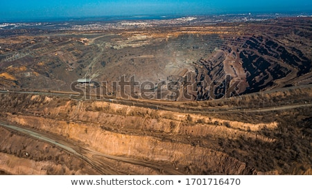 Stock photo: Extraction of iron ore in career