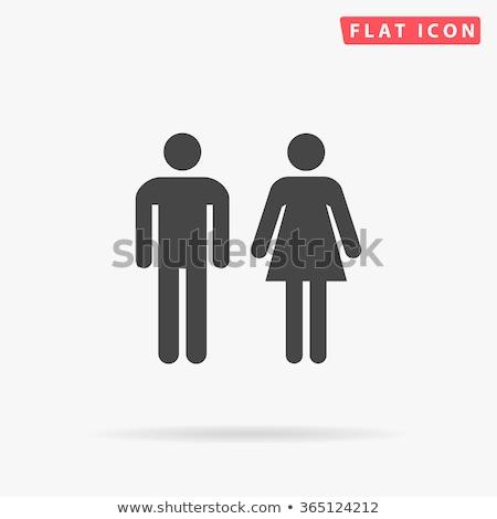 Adam kadın serin siluet erkekler kadın Stok fotoğraf © Luppload