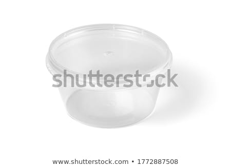 Kom lege witte geïsoleerd voedsel container Stockfoto © Givaga