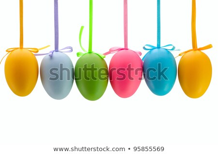 hanged bright color easter eggs Stock photo © artush
