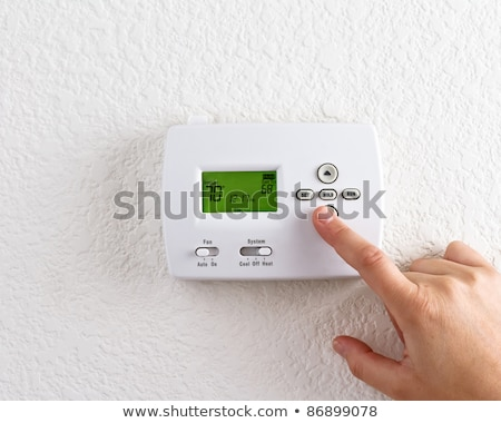 Air conditioning control panel on wall Stock photo © ifeelstock