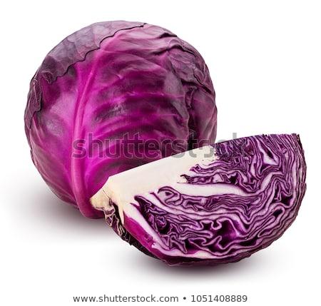 Stock fotó: Piros · káposzta · izolált · fehér · textúra · étel
